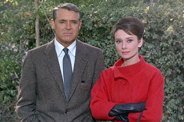 Cary Grant and Audrey Hepburn in the starring rolls of the film Charade (1963).