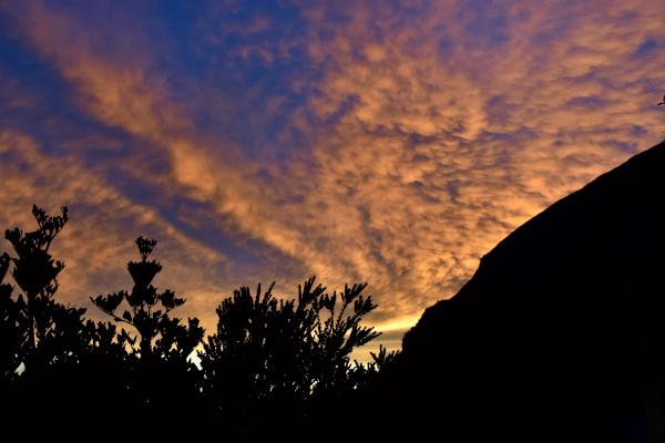 Sun setting at Laban Rata.