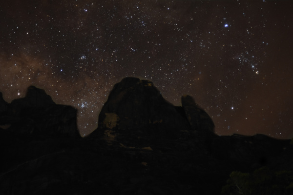 The cosmos as seen from Laban Rata, Mount Kinabalu.