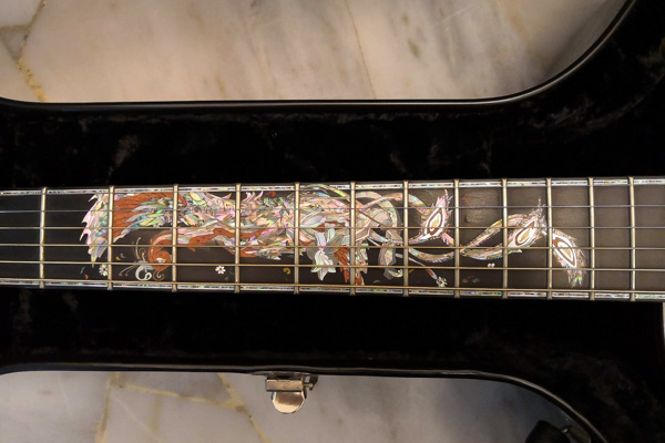 guitar inlay designed by a luthier