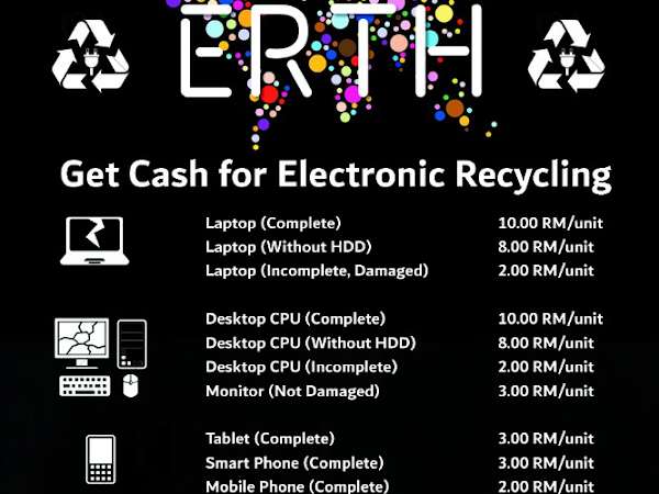 ERTH's cash reward for e-waste recycling.