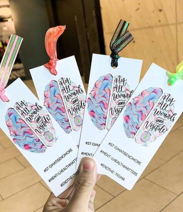 Sets of bookmarks designed by Farah.
