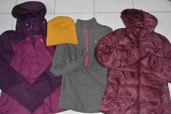 The jackets I wore for my trip to Mount Kilimanjaro