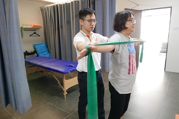 physiotherapy: tailored exercise programme