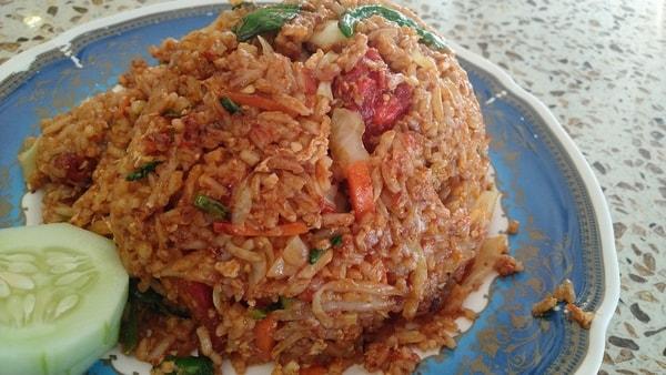 Nasi Goreng Ayam Mamak, a delicious Malaysian dish