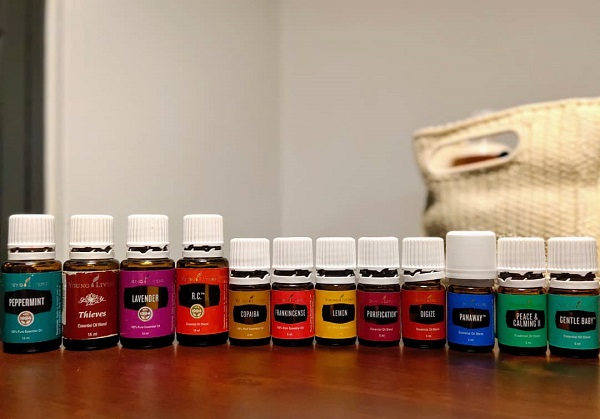 An assortment of high-quality essential oils.