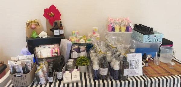 Products made by Craft and Oils using essential oils and other natural ingredients
