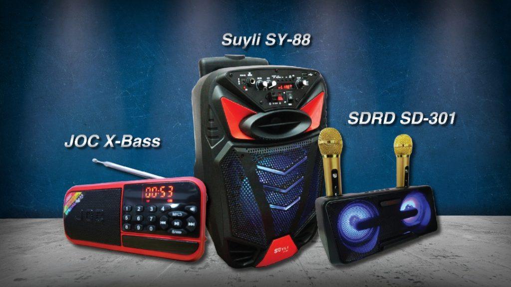 The three speakers