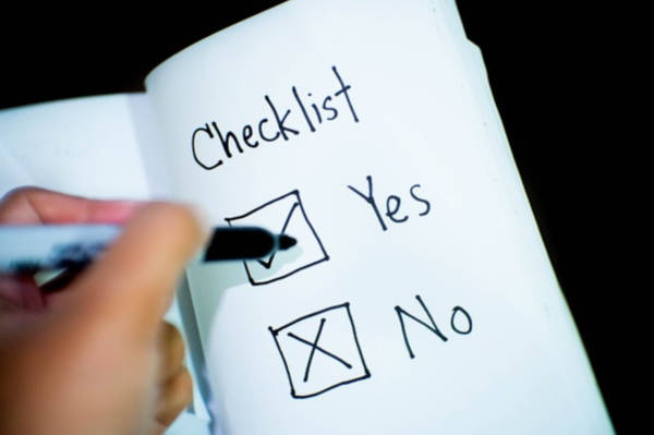 The Yes and No Checklist.