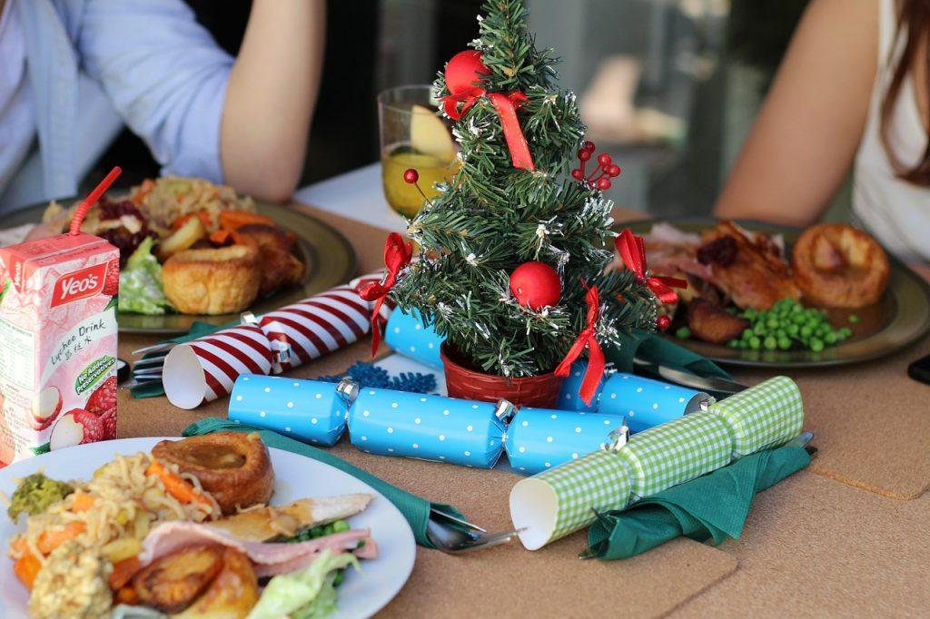 Christmas celebration dinner