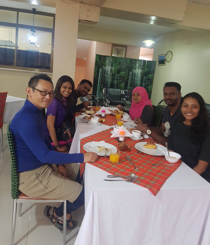 Breakfast with the team at Panama Hotel before the hike.