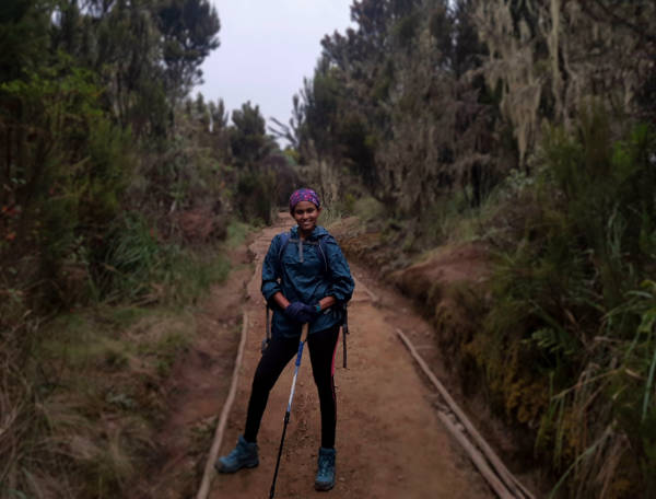 Finally, after five hours, I am at Machame camp. We have now entered the Moorland zone.