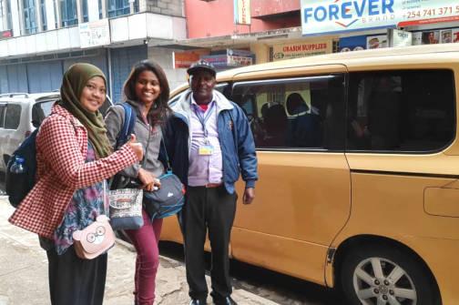 Benja Mulandi, our driver at Nairobi.