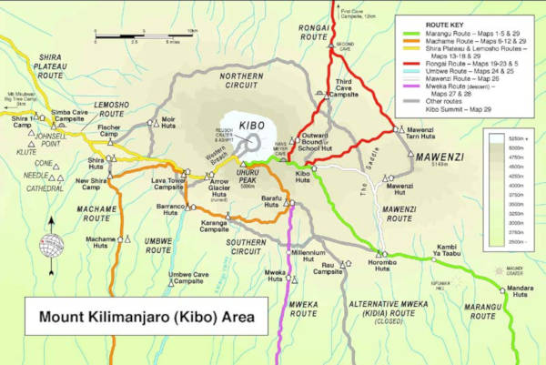 The complete Machame route.