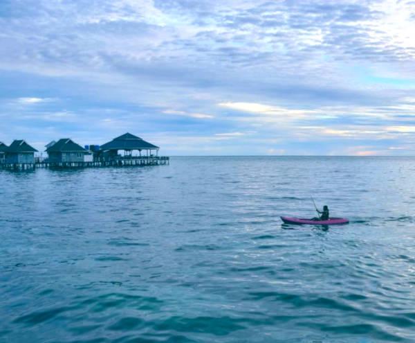 Kayaking at Mabul.