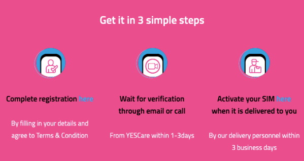 YES is providing free SIM cards so that students can access study materials to learn from home.