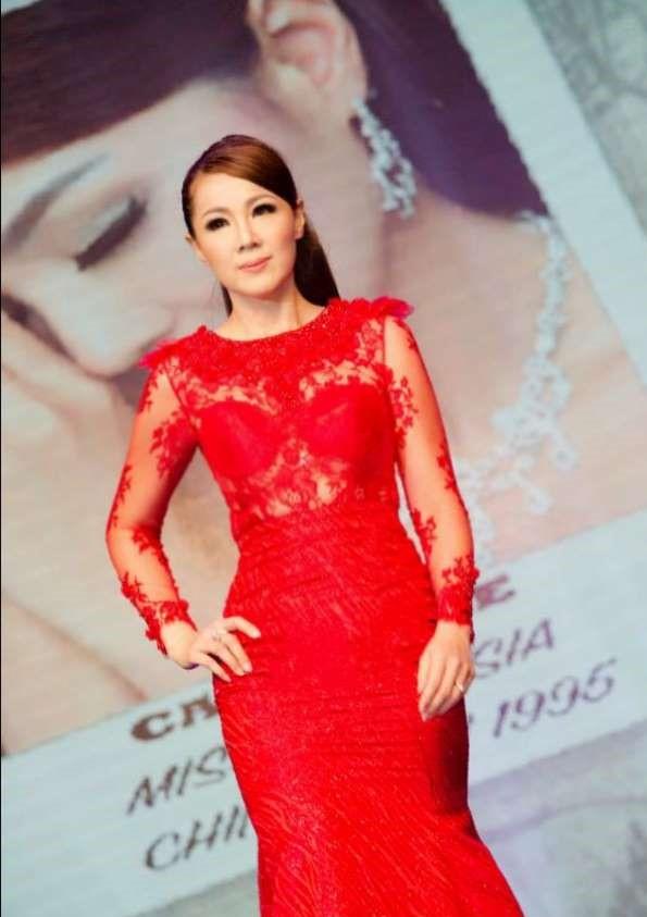 Carol Lee during a beauty fashion show