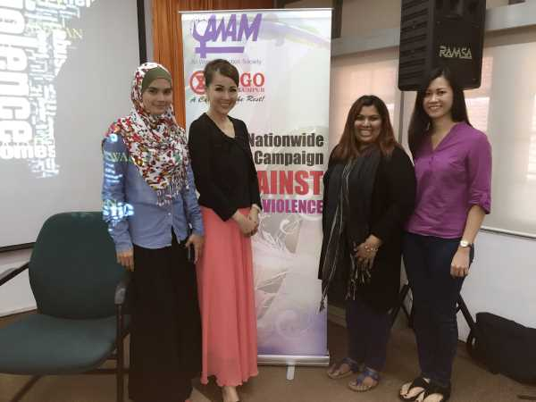 Carol Lee with AWAM ngo advocating against domestic violence