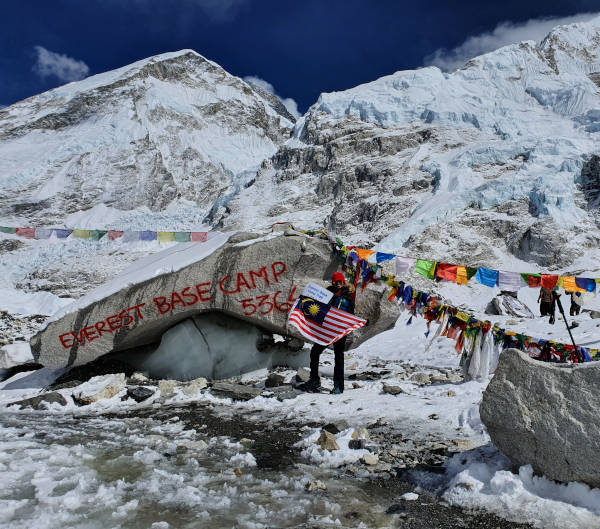Everest Base Camp before lockdown.