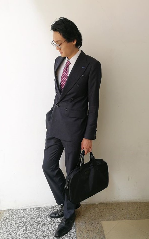Charcoal grey suit jacket with matching trousers