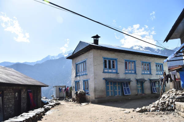 The quiet Lukla town during lockdown.