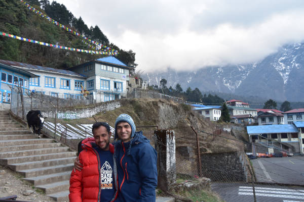 two guides in Lukla