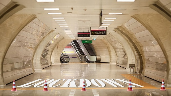 Most airports and subway stations are eerily silent when the Covid 'devil' strikes