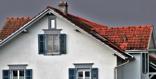 Classic clay tiles on a cottage house.