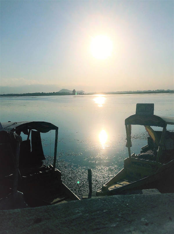 Sunset on Dal Lake, Kashmir.