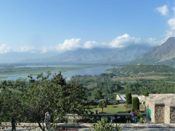 The view from the ancient observatory of Pari Mahal stretches across Kashmir's mountains and lakes.