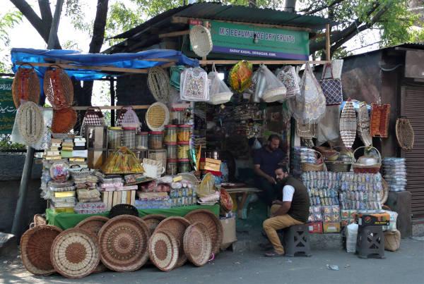 A typical souvenir shop in Old Srinagar.
