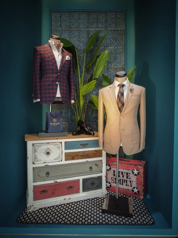 Bespoke suits on display