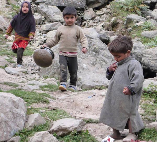 Gujjar children at play.