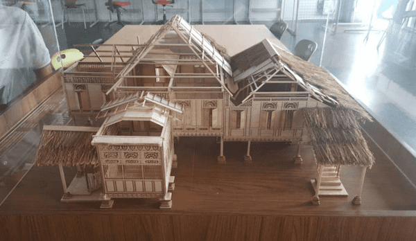 A photo of the final physical model of Rumah Tok Su. This model is currently at the house itself for visitors to see.
