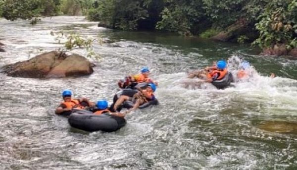Water tubing as a group activity