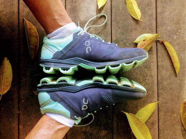 The On Cloudsurfer provides cushioning, support and stability.