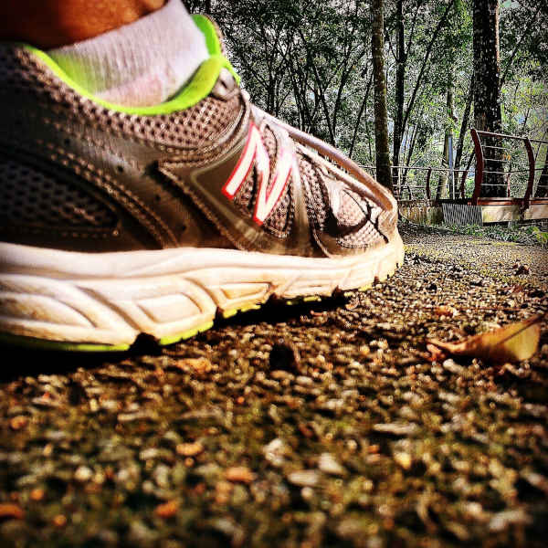 New Balance running shoes at my usual playground, Taman Persekutuan Bukit Kiara at Taman Tun Dr Ismail, Kuala Lumpur.