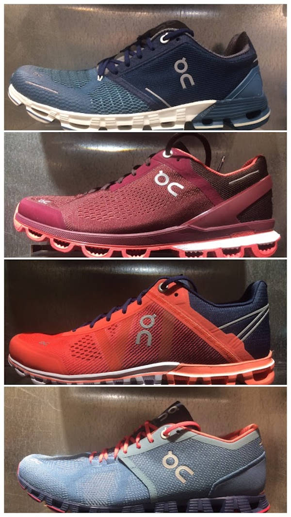 The choice of On running shoes to suit your needs.