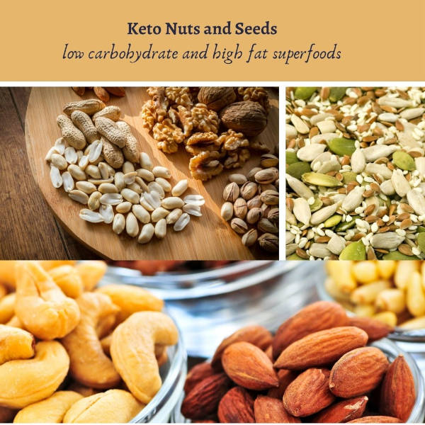 Nuts and seeds are associated with being ketogenic-friendly foods because they're excellent sources of fat and provide moderate amounts of plant-based protein.