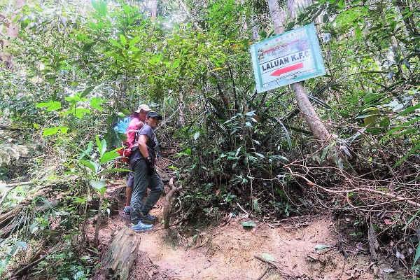 At the start of the KFC trail at Gunung Ledang,