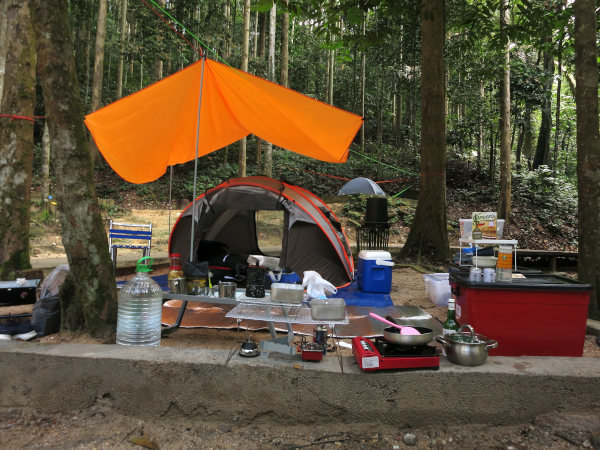 Camping with the luxury of space and convenience