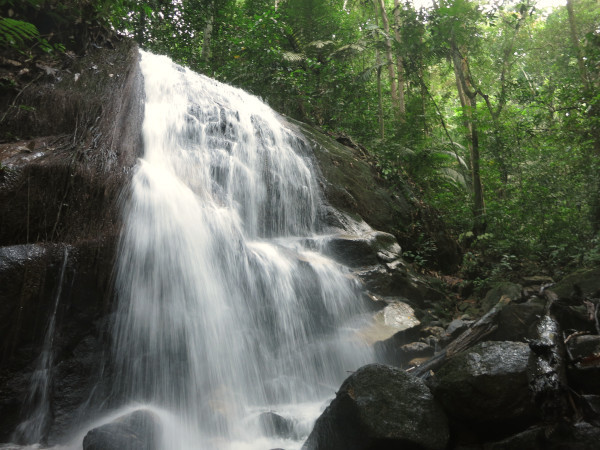 Camping is not complete without a visit to the waterfall