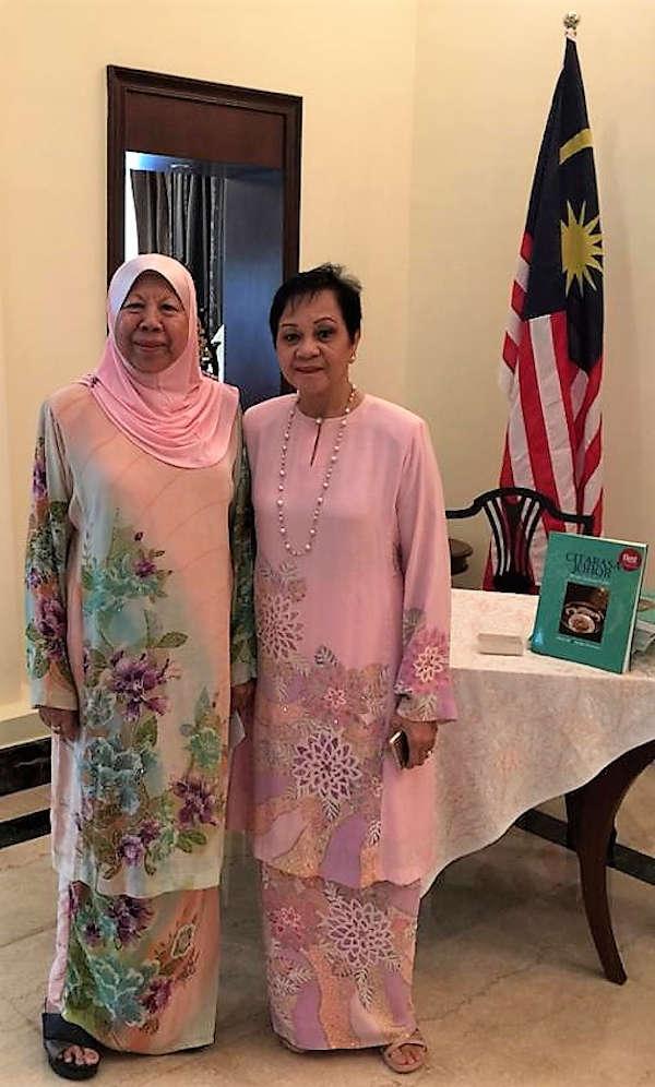 Kalsom Taib and Hamidah Abdul Hamid, authors of  Johor Palate: Tanjung Puteri Recipes