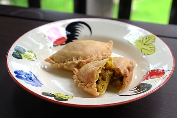 The curry puff is a popular Southeast Asian pastry.