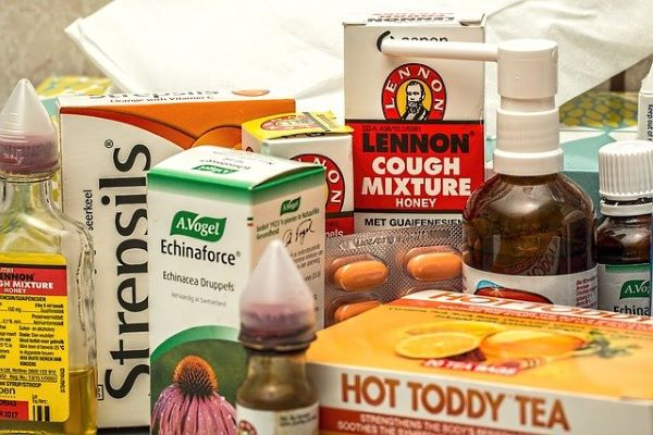 A pile of medication and remedies.