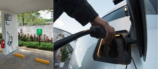 charging your EV in the parking lot