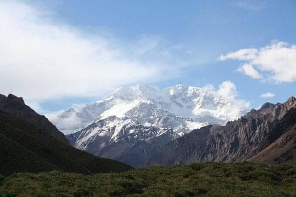 Mount Aconcagua in Argentina is the highest peak in the Americas Andes range is majestic at 6,961 metres, This is Renée's second expedition to raise cancer awareness.