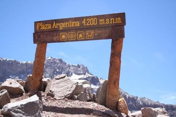 The base camp at Plaza Argentina