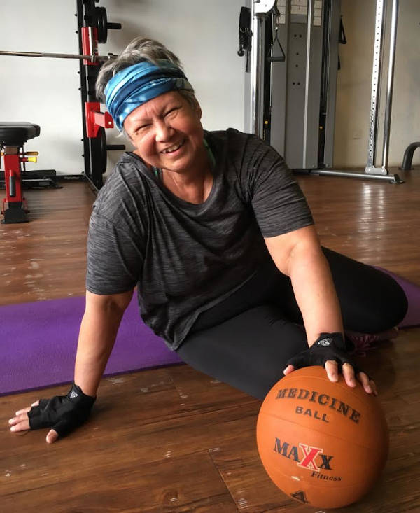Renée's training regime after her chemotherapy and radiotherapy treatments for cancer.