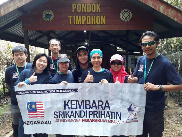 In training with the Kembara Srikandi Prihatin team at Mount Kinabalu. The Mount Elbrus expedition was one of the adventures on Renée's cancer journey when she was elected to represent the National Cancer Council Malaysia.